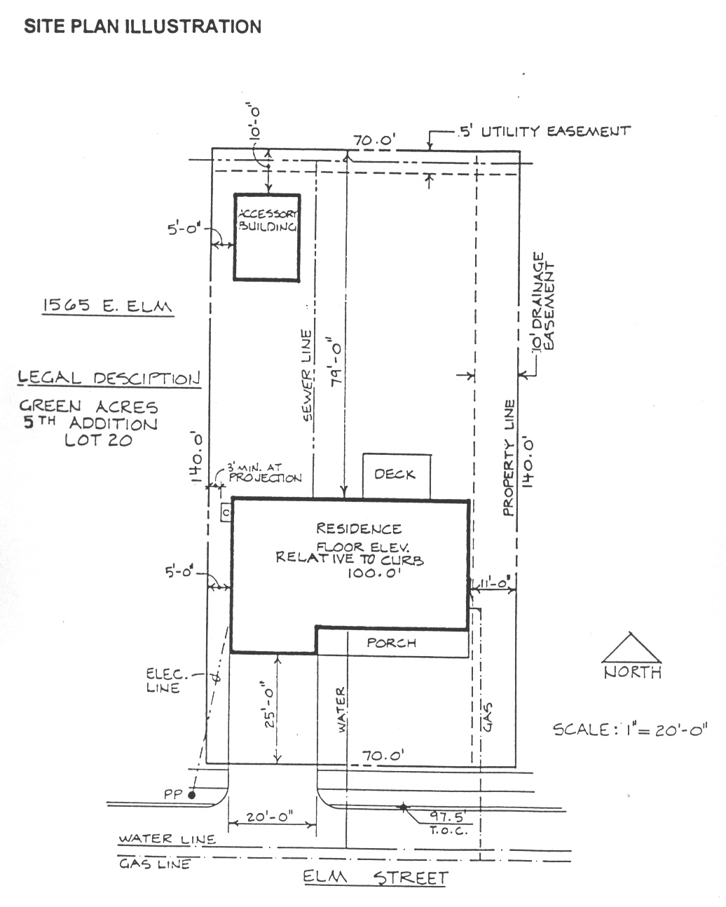 Building site plan for House construction plan