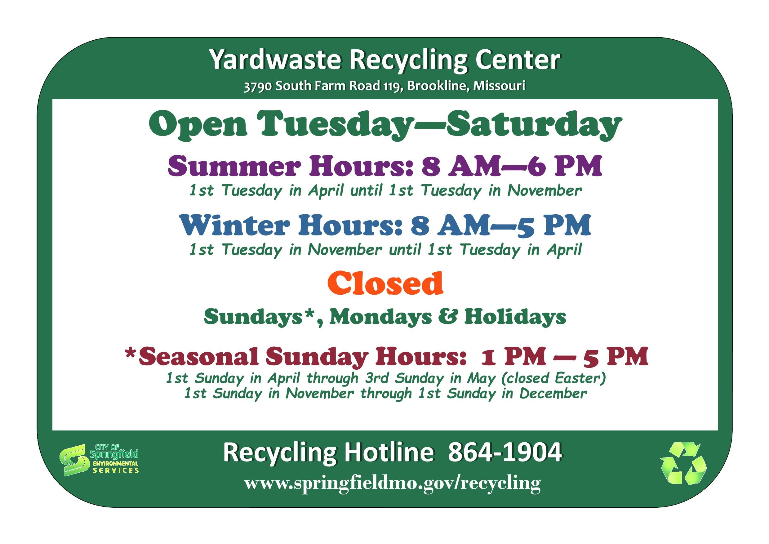 Yardwaste Recycling Center