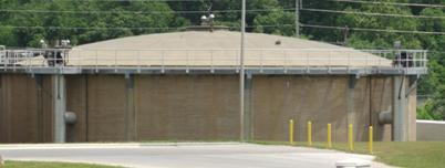 Photo of the Anaerobic Digester, as seen from outside.