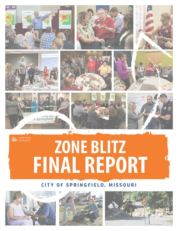 cover graphic of Zone Blitz final report