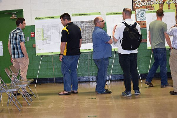 Participants at Neighborhood Plan meeting at Rountree gym
