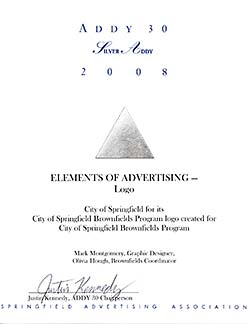 The Addy Certificate for 2008.