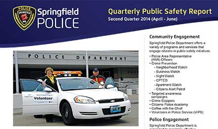 police quarterly public safety report